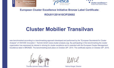Bronz pentru Cluster Mobilier Transilvan